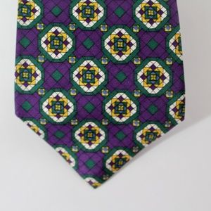 Barneys NY D. Rappaport Silk Tie, Purple, D17